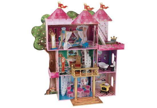 KidKraft Domeček pro panenky STORYBOOK MANSION 65878 (dřevěný domeček pro panenky)