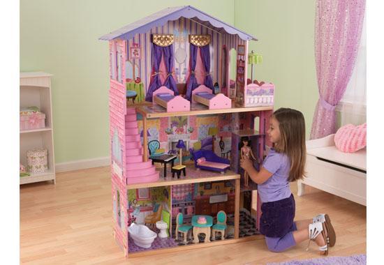 Kidkraft Dřevěný domeček pro panenky Barbie DREAM MANSION (domeček pro Barbie DREAM MANSION)