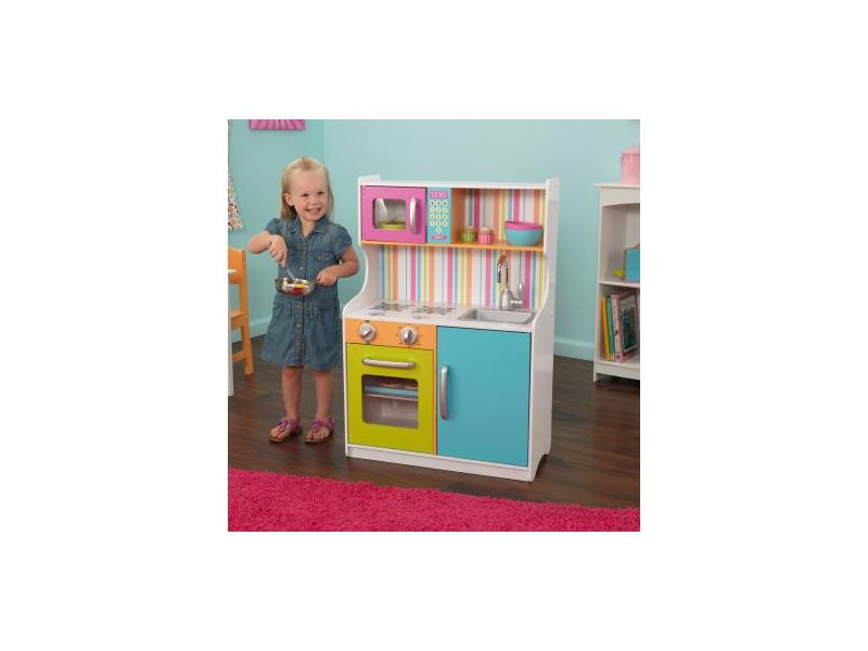KIDKRAFT Bright Toddler kuchyňka (dřevěná kuchyňka KidKraft)